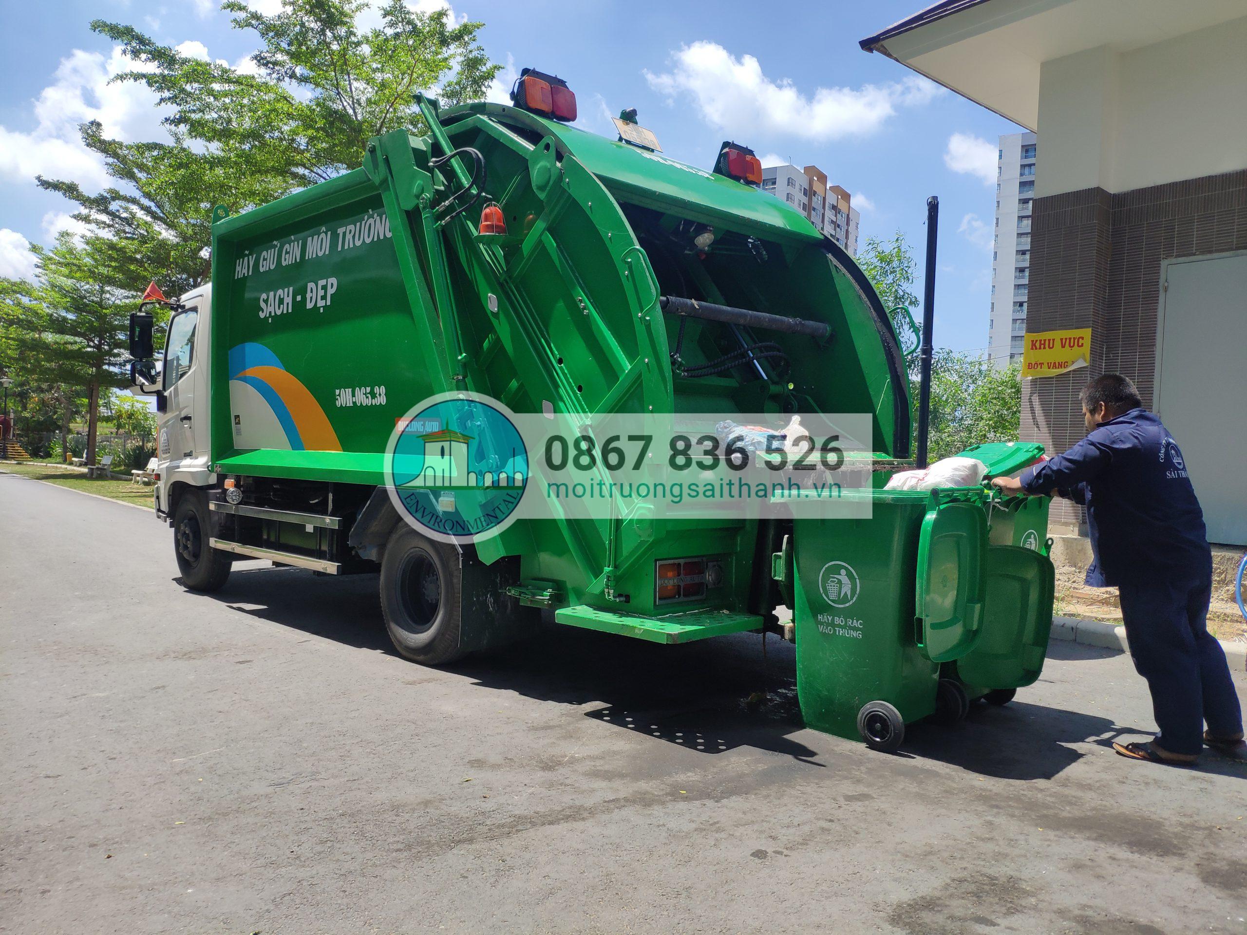 Thu gom rác sinh hoạt nhà cao tầng