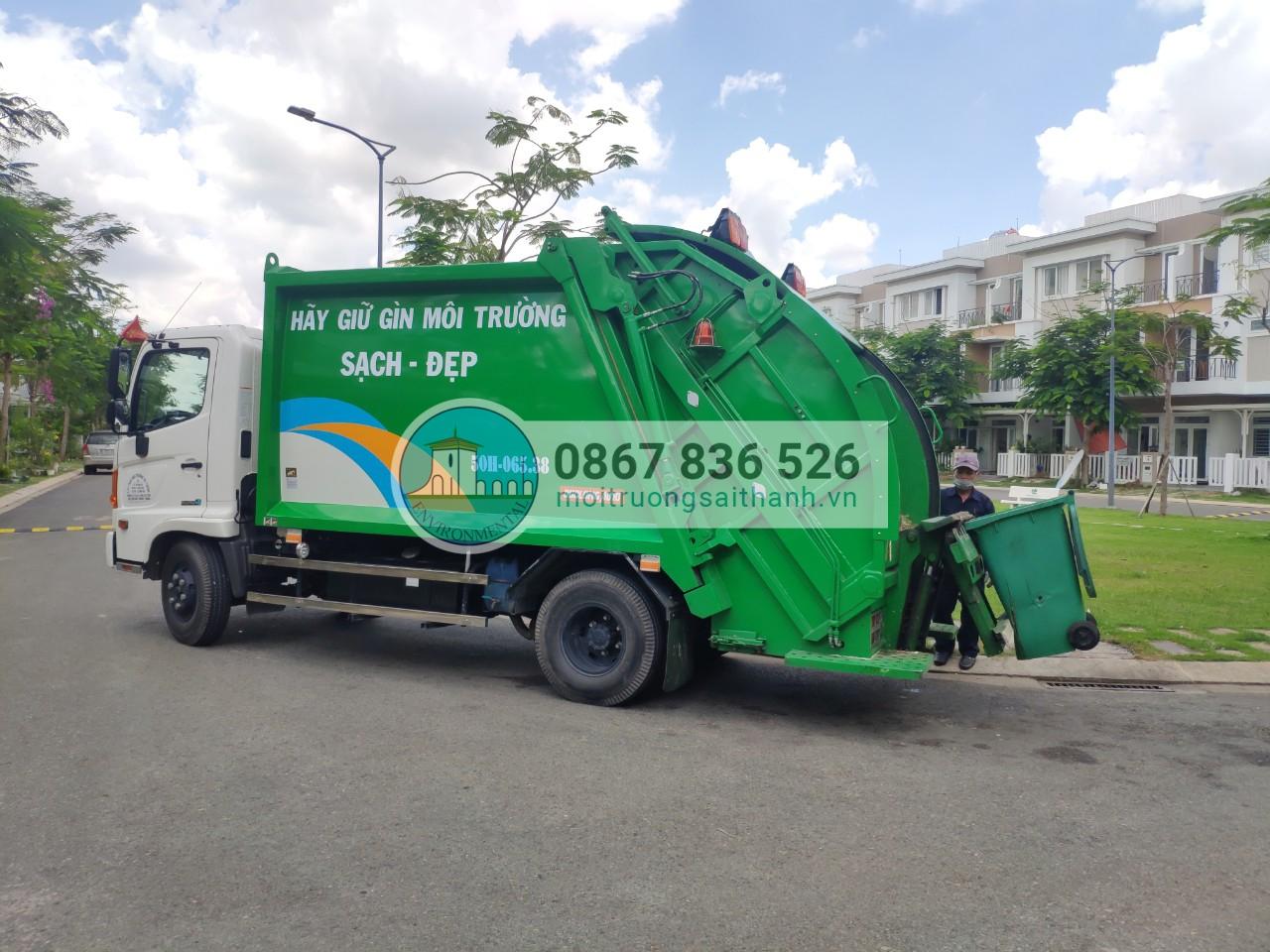 Thu gom rác sinh hoạt tại các KDC cao cấp